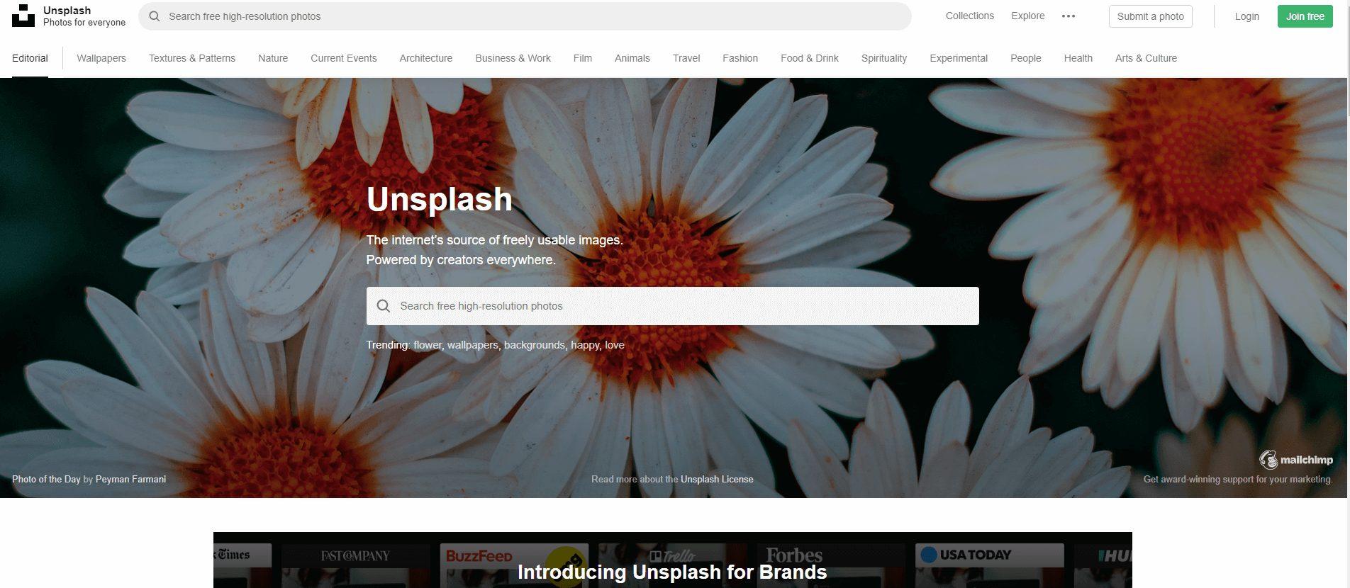 Unsplash ブログ
