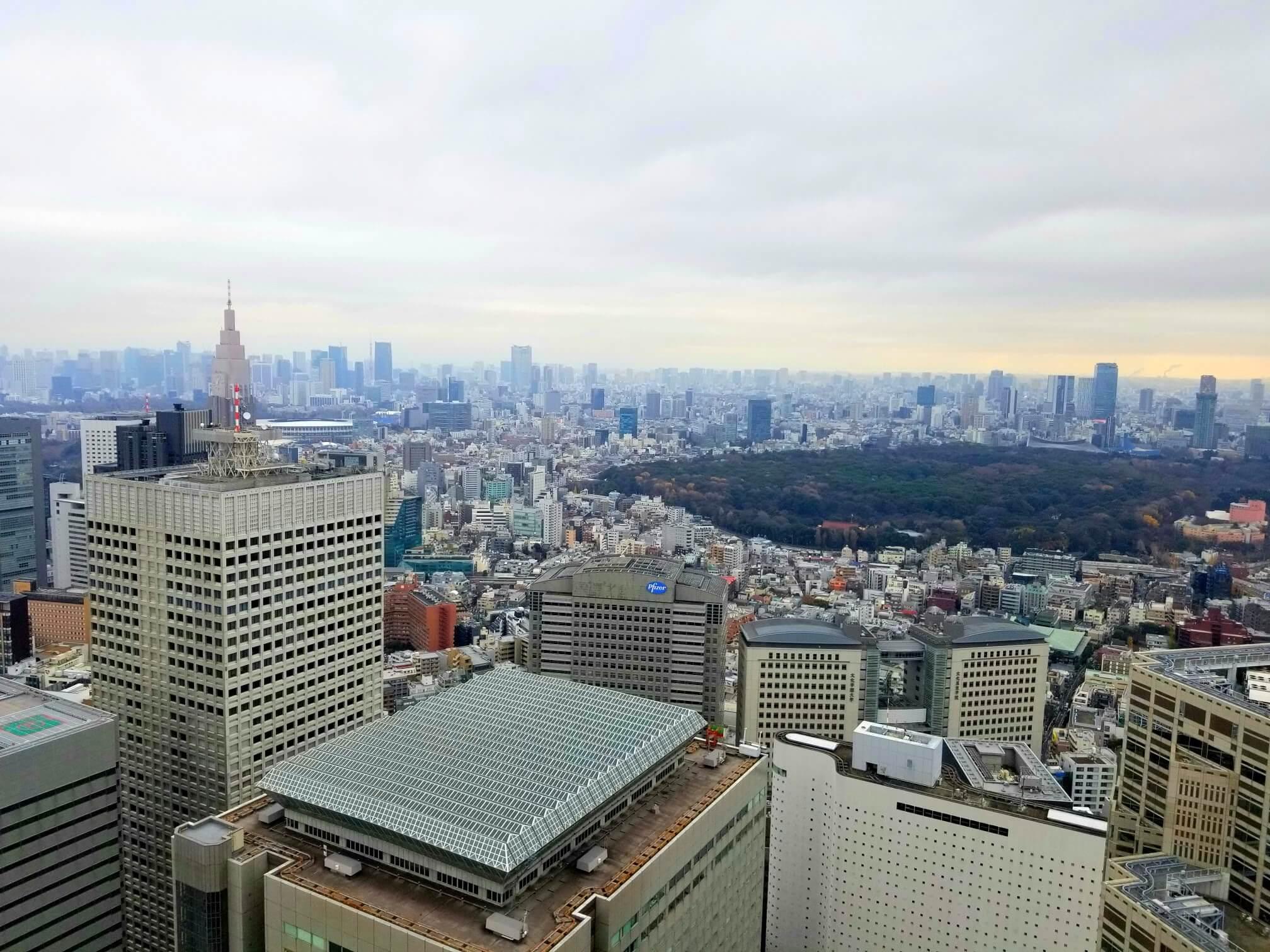 都庁から見える南東方向の景色