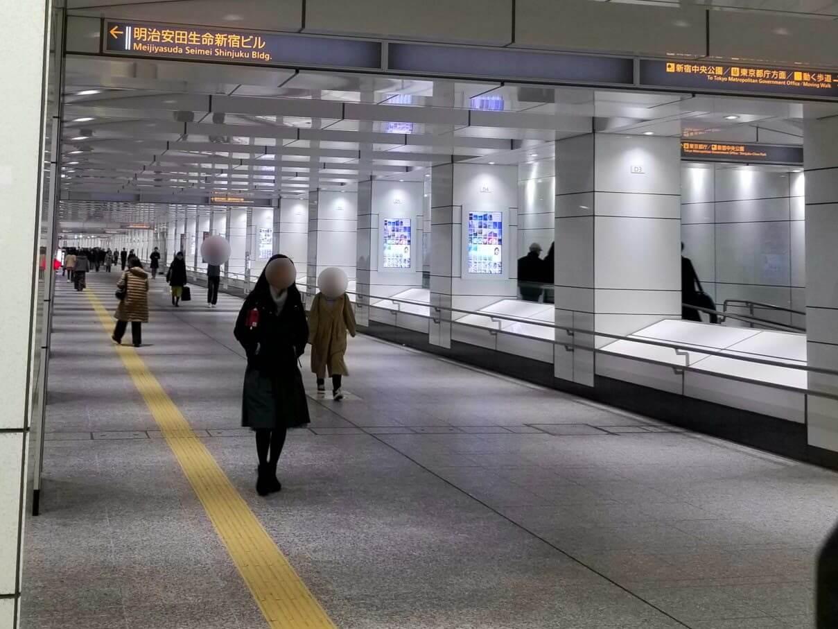 新宿駅の地下通路