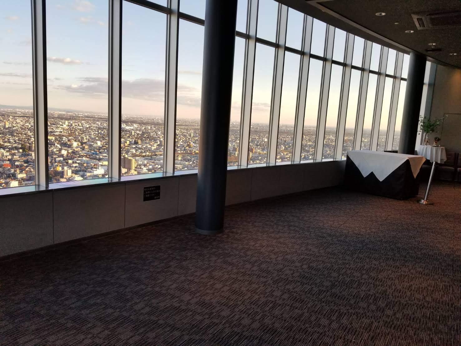 岐阜シティ・タワー43の展望室内