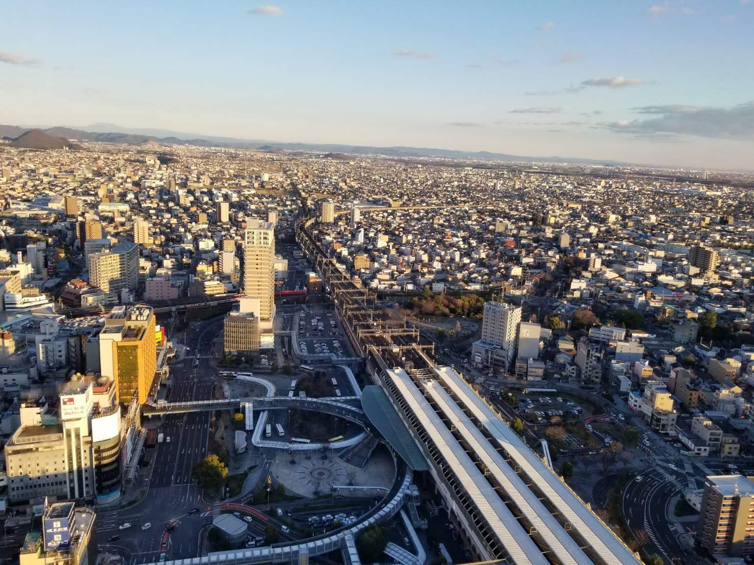 岐阜シティ・タワー43の景色