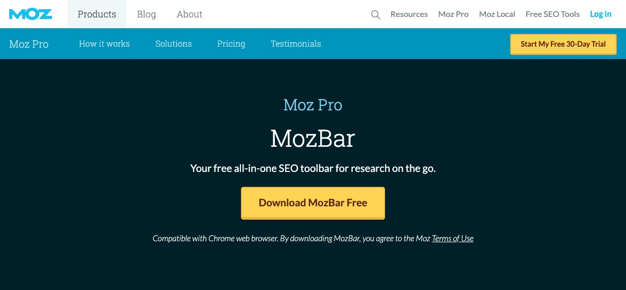 MozBarのホームページ