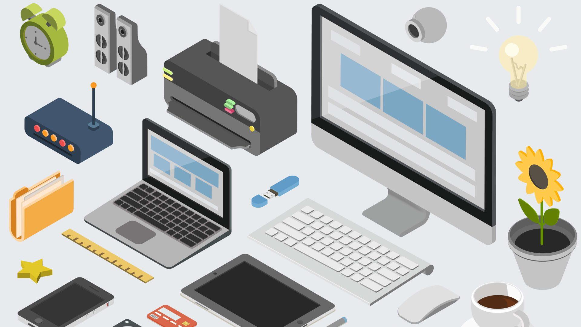 パソコンや周辺機器のイラスト