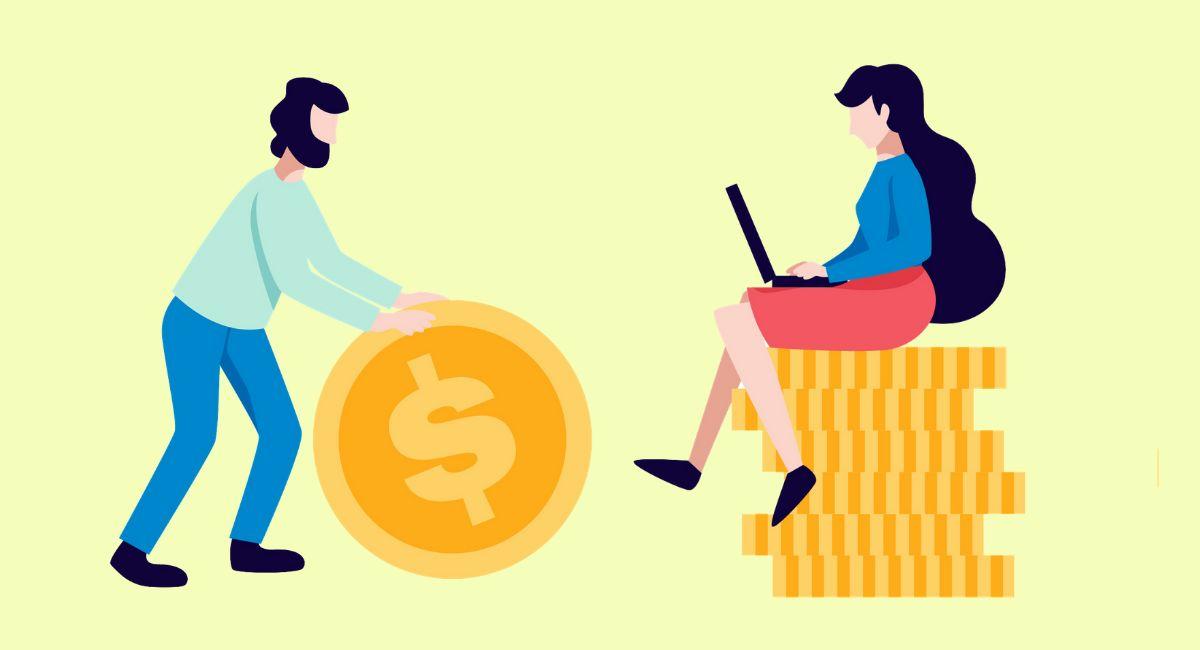 お金と人のイラスト